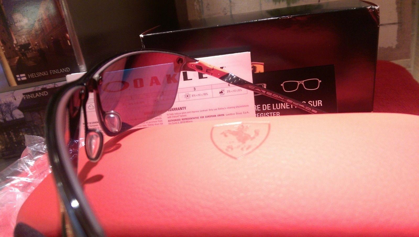 Oakley Scuderia Ferrari Carbon Blade ***Price Drop*** - uploadfromtaptalk1452608291031.jpg