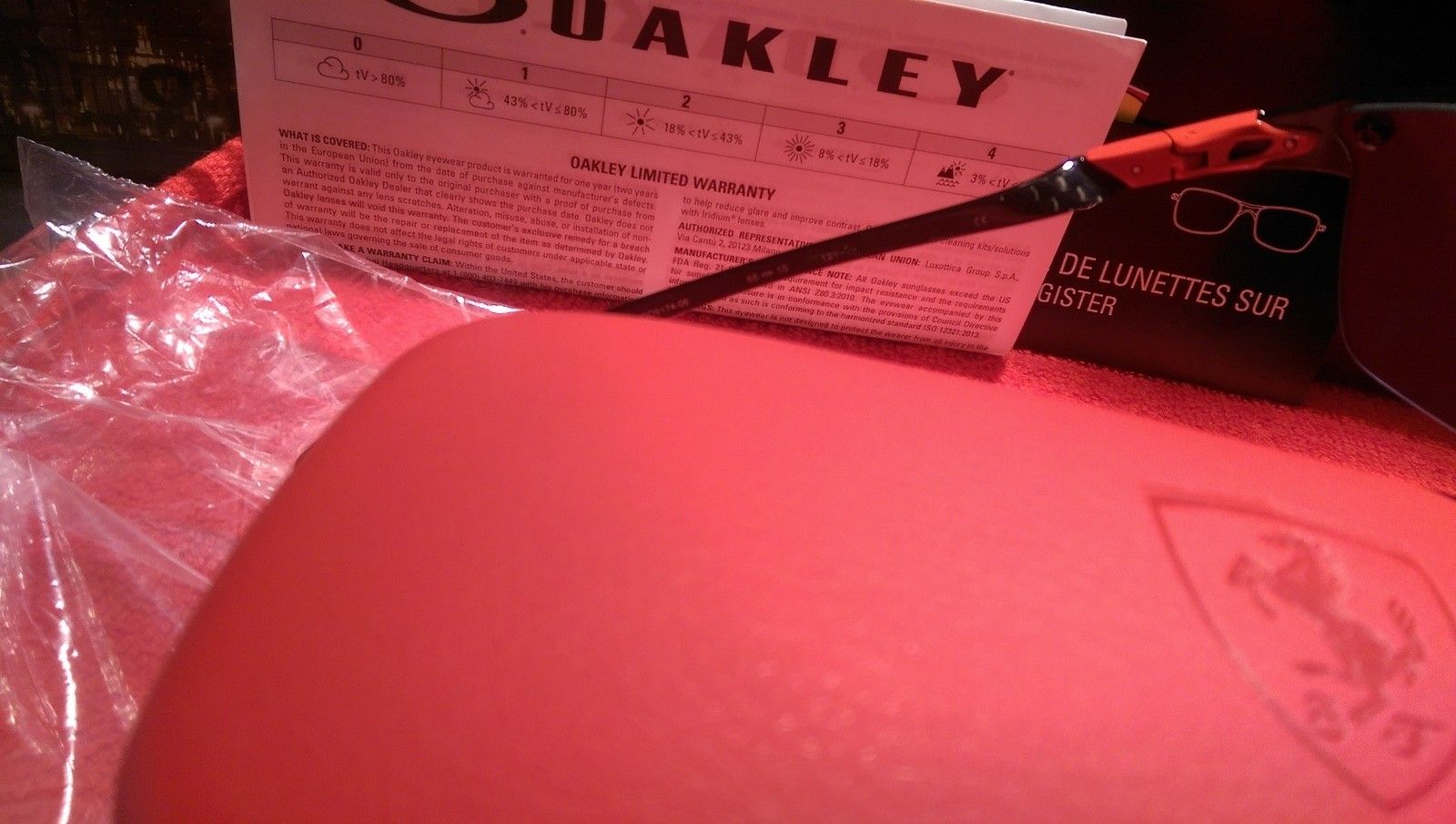 Oakley Scuderia Ferrari Carbon Blade ***Price Drop*** - uploadfromtaptalk1452608315678.jpg