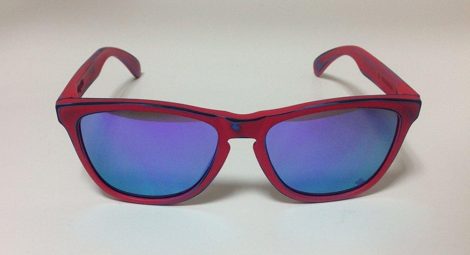 Oakley Matte Red Skate Deck Frogskins W/ IH Violet Iridium - UtA8yzW.jpg