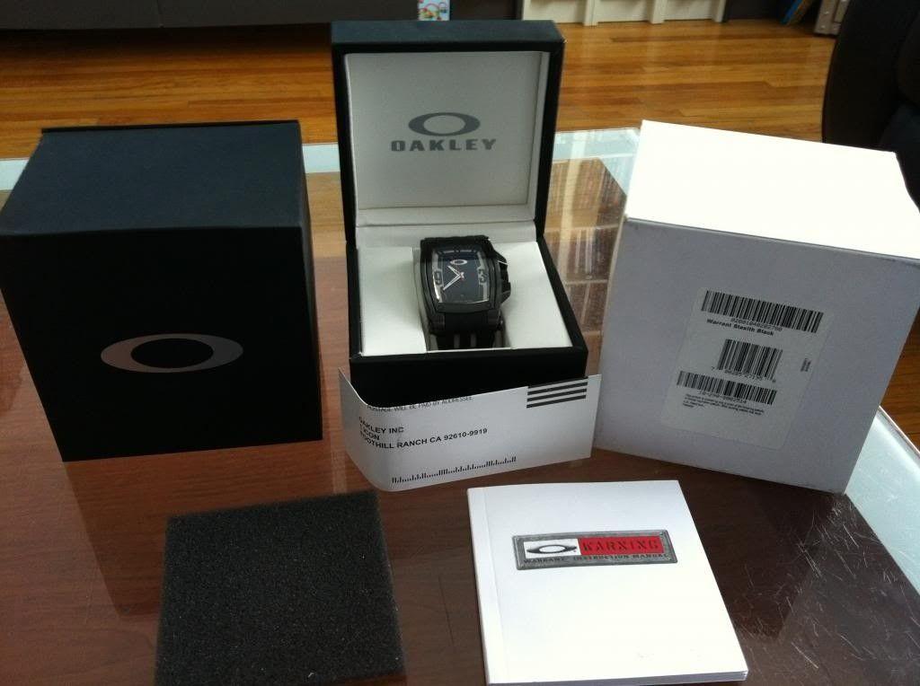 Wts Several Oakley Watches - warrantblk.jpg