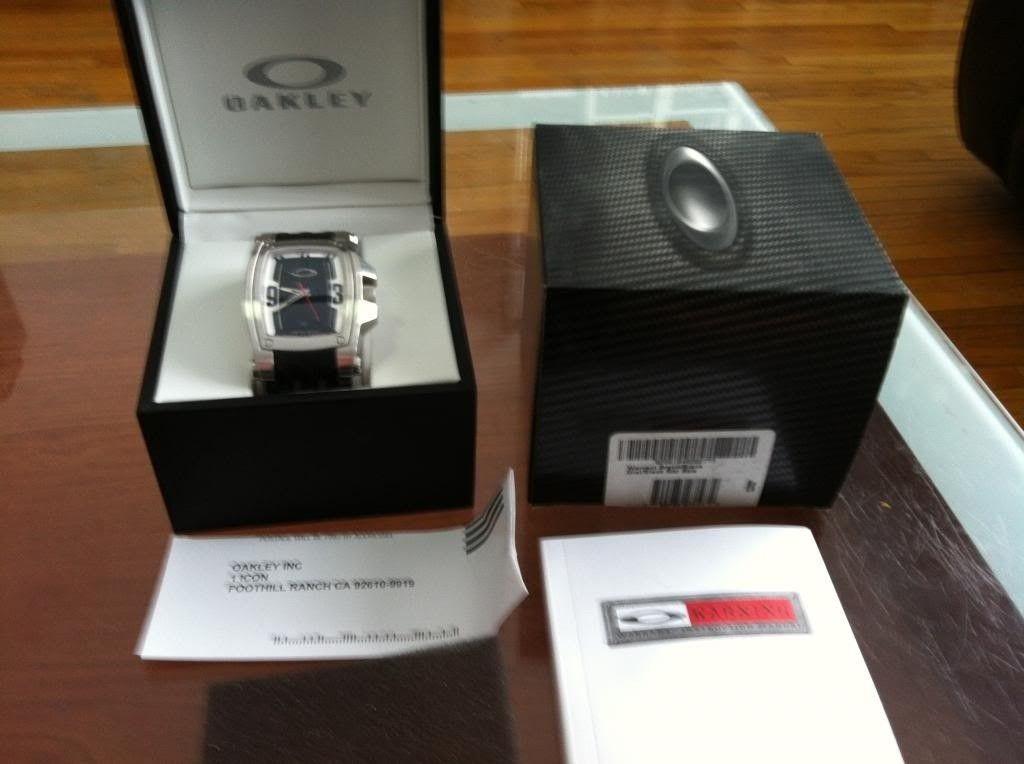 Wts Several Oakley Watches - warrantslv1.jpg
