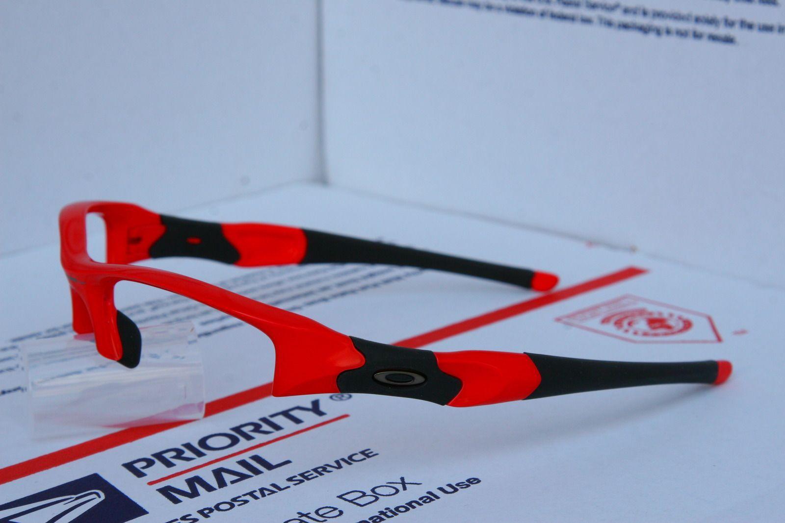 Oakley Flak Jacket Infrared Frame 03-896 And Jade Iridium XLJ Lenses - zcn7.jpg