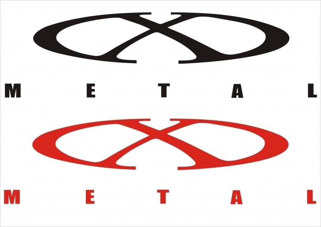 x metal logo