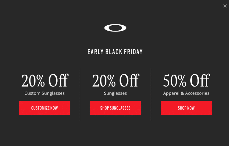 Oakley Black Friday 2018 Guide