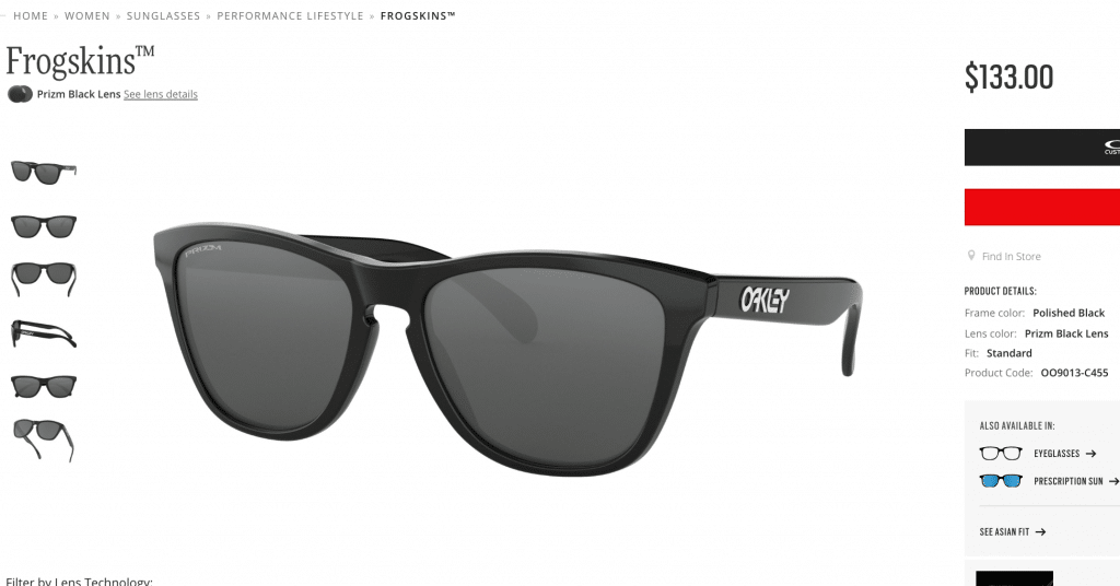 Oakley Frogskins Polished Black Sunglasses
