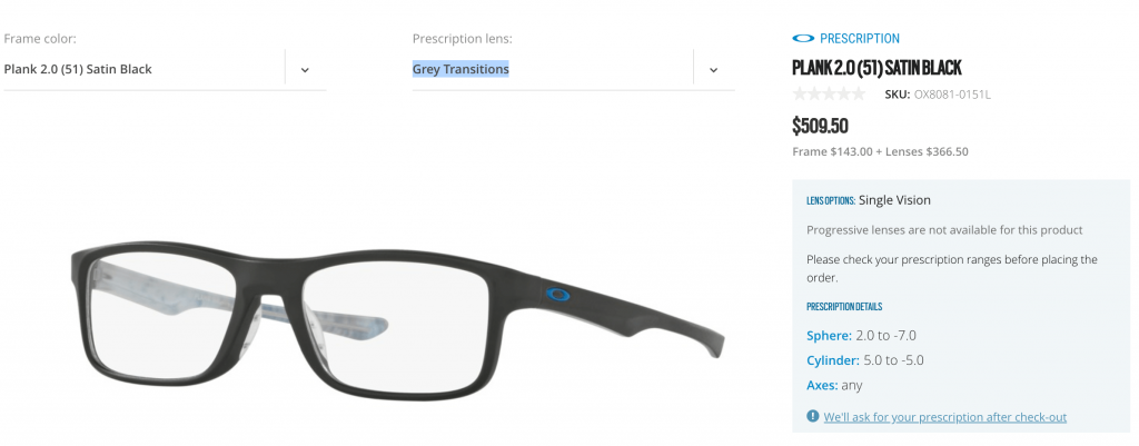 Oakley Prescription Eyeglasses Cost