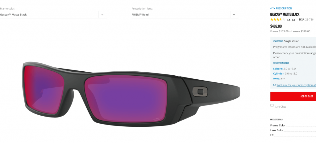 Oakley Prescription Gascans with Prizm Lenses