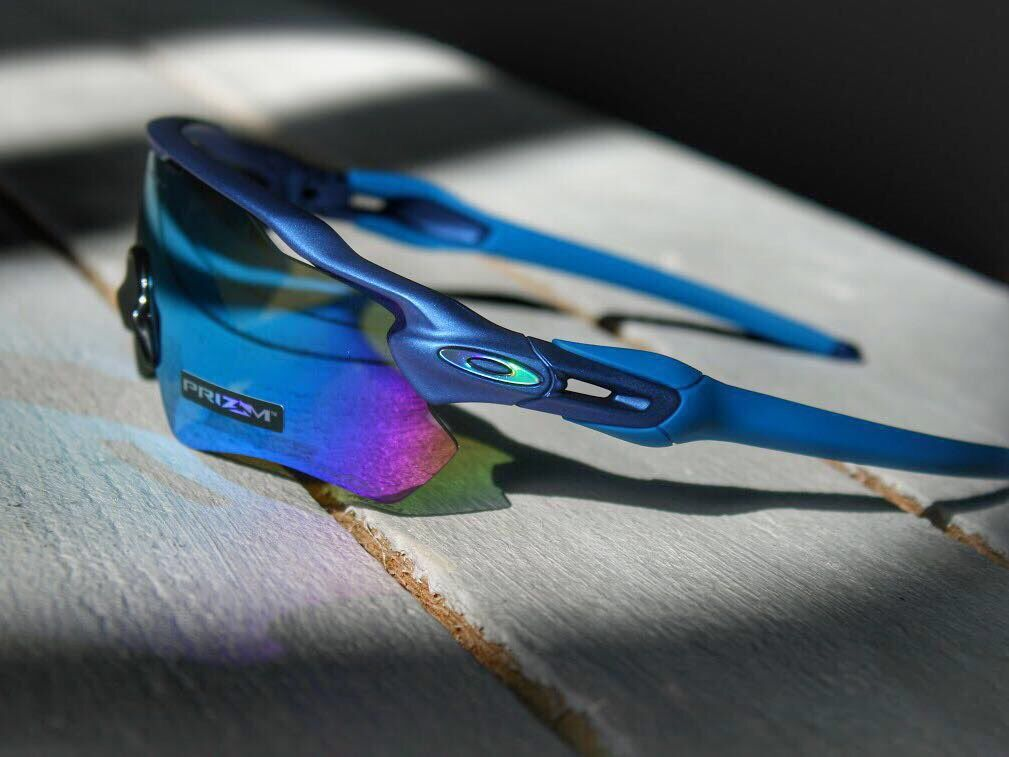 Oakley Prizm Sapphire Lenses on Radar Sunglasses
