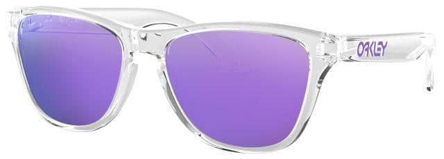 Frogskin XS Sunglasses with Violet Iridium Lenses and Clear Frame